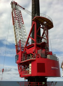 personell supply showing crane